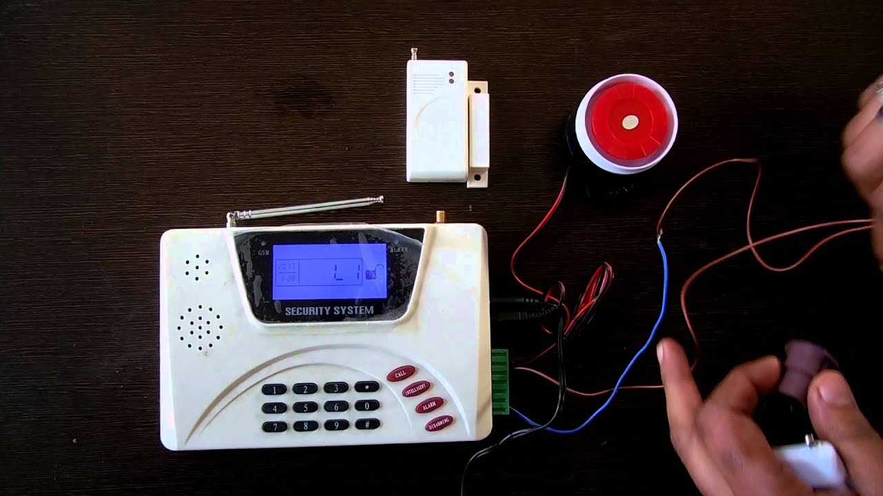 Burglar Alarm with Wired Sensor Support and Wiring Diagram