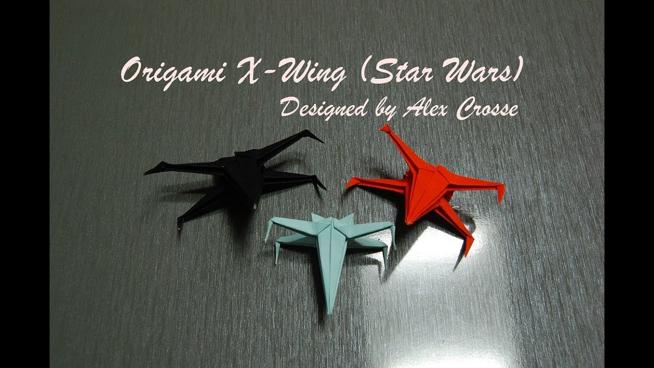 Origami x wing how to fold an origami x wing star wars star origami x wing how to fold an origami x wing star wars star fighter youtube jeuxipadfo Images
