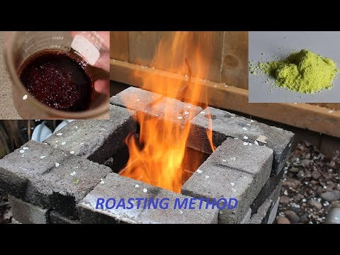 Making Sodium Chromate (and Dichromate) By Roasting Chromium Oxide