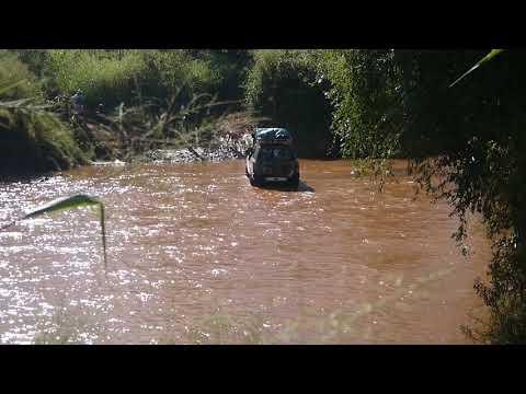 (T) Car crossing river near town of Belobaka, Madagascar (2)