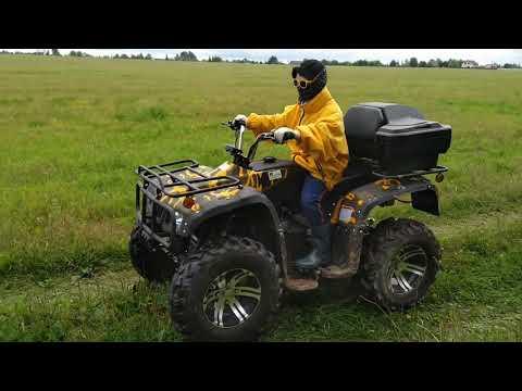Электрический квадроцикл Вездеход 03У, с сыном в лес за грибами