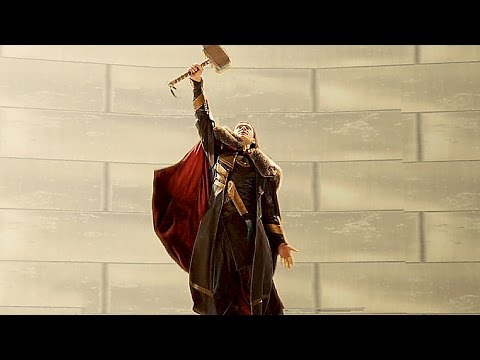 LOKI wields Thor's Hammer - DELETED SCENE from THOR 2
