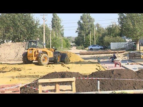 В Жирновском районе благоустраивают территории по госпрограмме
