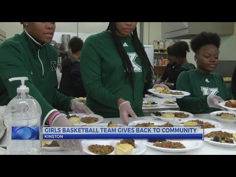 Kinston High School girls basketball team gives back to the community