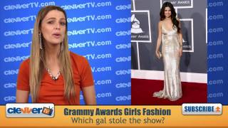 Http://facebook.com/clevvertv - become a fan! http://twitter.com/clevvertv follow us! we've got the fashion recap for girls on grammy red carpet. s...