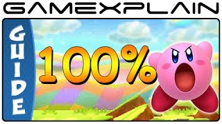 Kirby Triple Deluxe - All Sun Stones & Rare Keychains 100% Guide (3DS)
