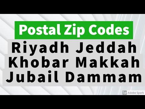 Postal Zip Codes of riyadh Jeddah Dammam Khobar