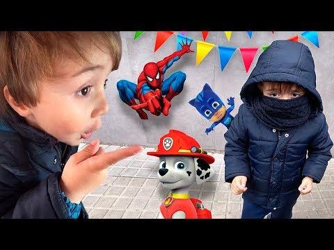 DECORAÇÃO PARA FESTA DE ANIVERSÁRIO DO MARCOS!! PJ Masks, Paw Patrol, Marvel Superheroes e Peppa Pig