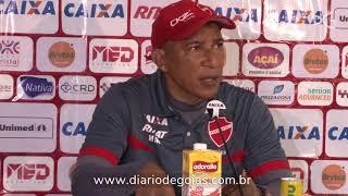 Técnico do Vila Nova fala sobre empate contra o Santa Cruz no Estádio Serra Dourada
