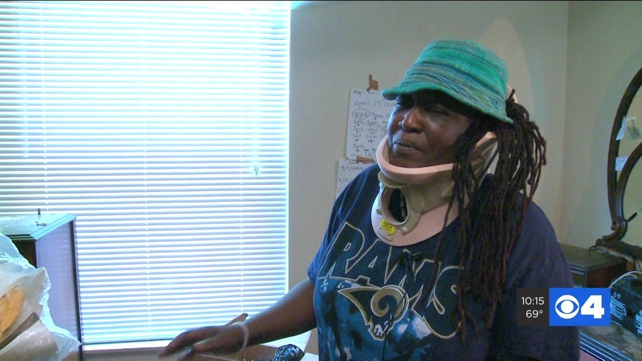 ST LOUIS, MISSOURI: BLACK LADY APARTMENT CEILING FALLS ON HER HEAD