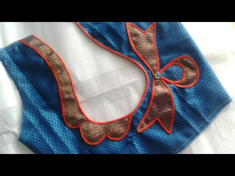 easy-patchwork-blouse-back-neck-design-cutting-and-stitching-/blouse-designs