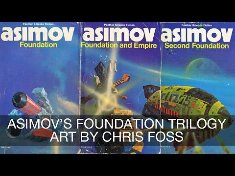 Asimov's Foundation Trilogy Art by Chris Foss