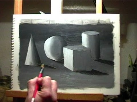 Oil Painting Lesson 1 - How to Paint Basic Shapes