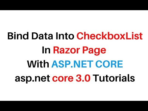 How To Bind CheckBoxList In ASP.NET Core Display Razor Pages C#
