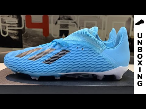 adidas X 19.3 FG/AG Hard Wired - Bright Cyan/Core Black Kids