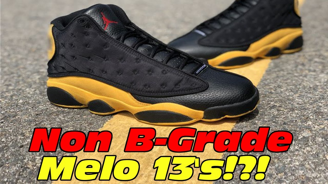 pretty nice 3af40 e64d6 Are All Melo 13's B Grades? A Grade Melo 13's From StockX!!! Air Jordan 13  ''MELO'' Sneaker!