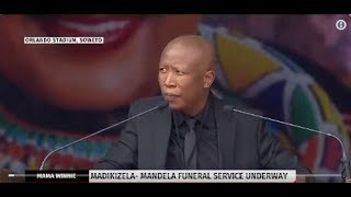 JULIUS MALEMA SPEECH AT THE FUNERAL OF MAMA WINNIE MANDELA