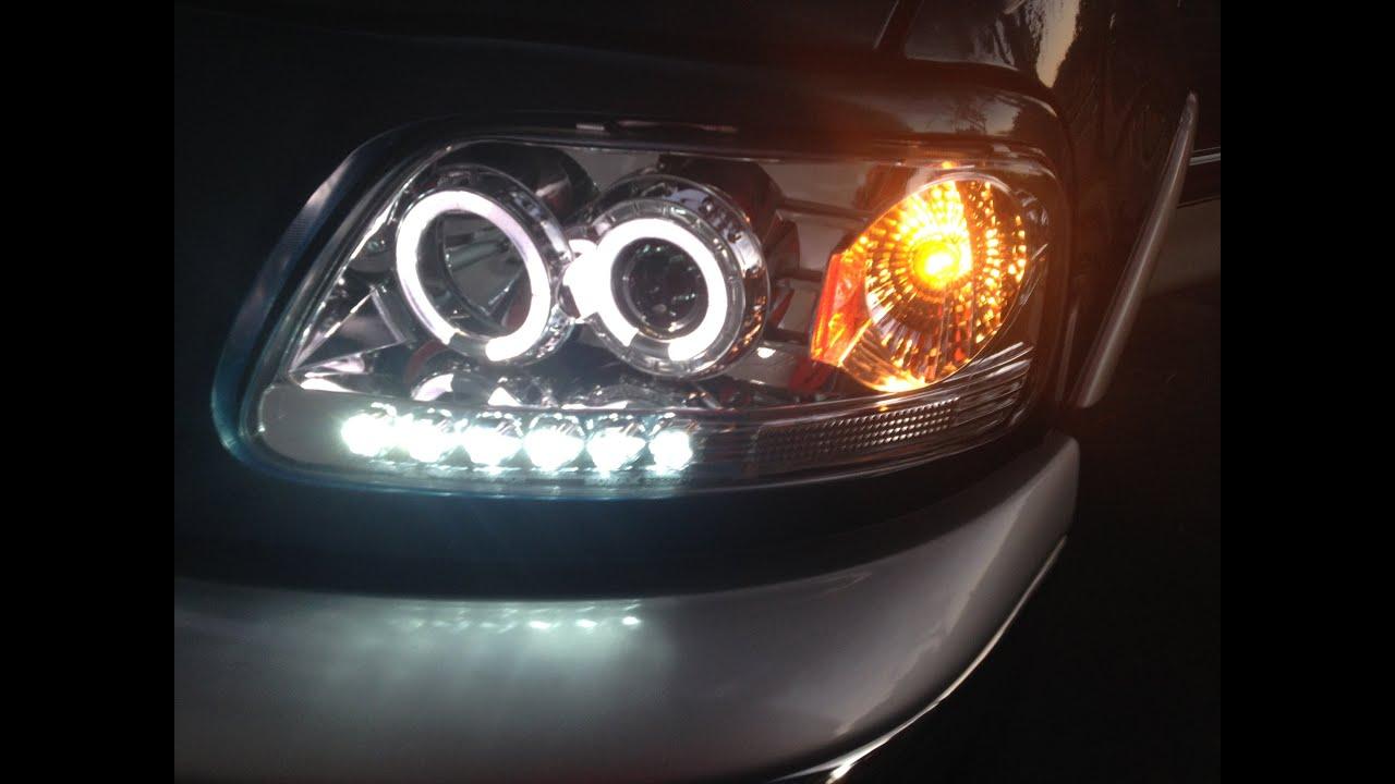 2000 ford f 150 led halogen headlight upgrade [ 1280 x 720 Pixel ]