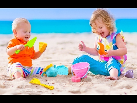 Beach Toys Set Sand Toys For Kids 9 Piece With Shovels