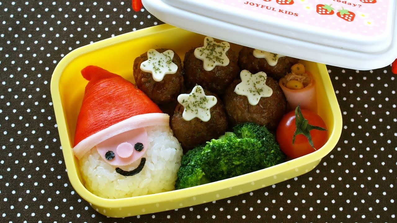 how to make super easy last minute santa claus bento lunch box recipe. Black Bedroom Furniture Sets. Home Design Ideas