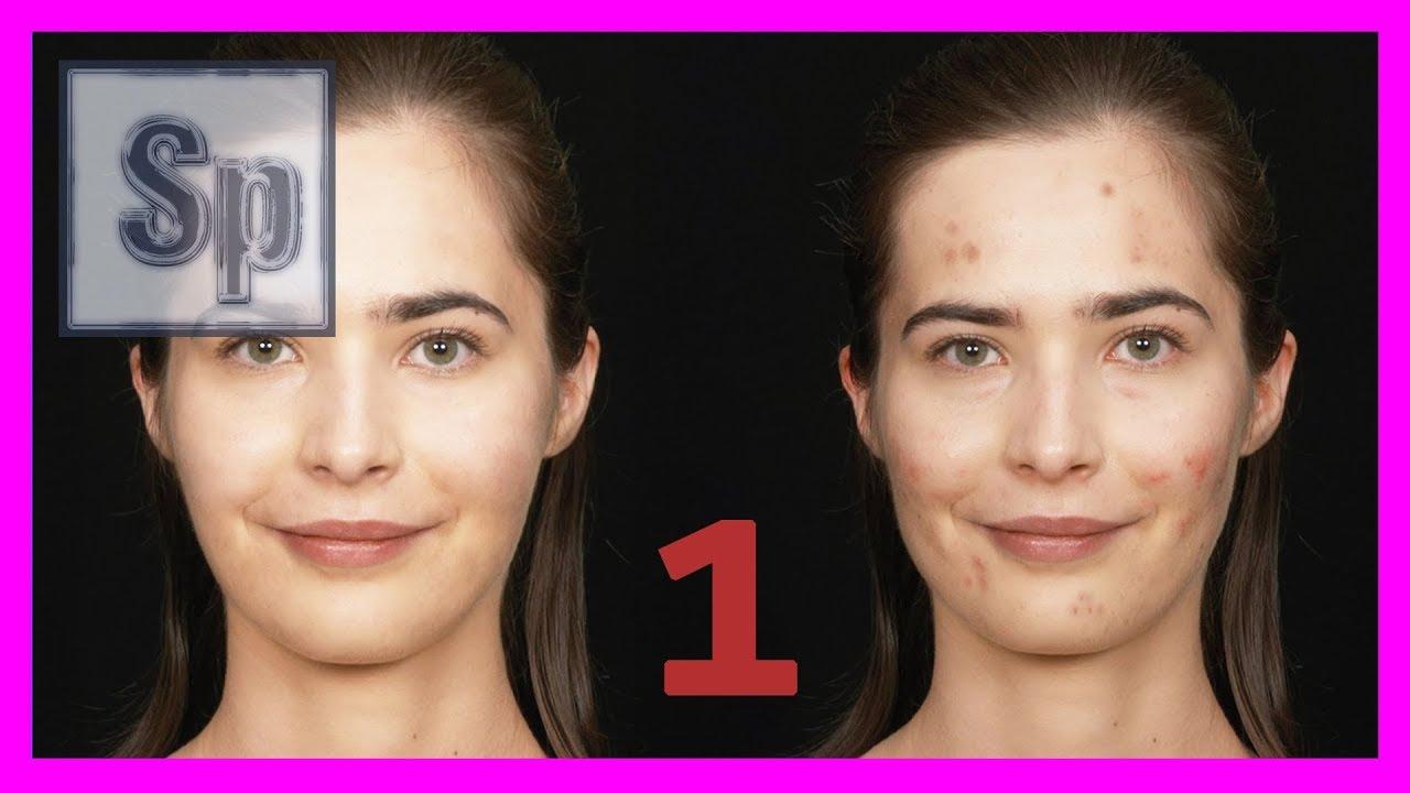 Photoshop 1 2 Quitar Granos Manchas Retocar Y Mejorar La Cara Tutorial En Español Hd Youtube