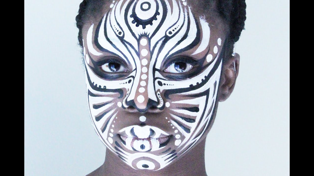 Tribal Facepaint. NK - YouTube