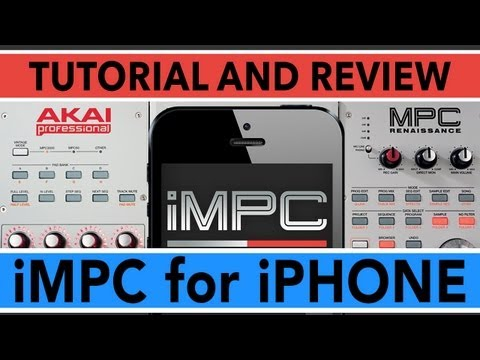 IMPC FOR IPHONE TUTORIAL & REVIEW - MPC Beatmaking App Tutorial