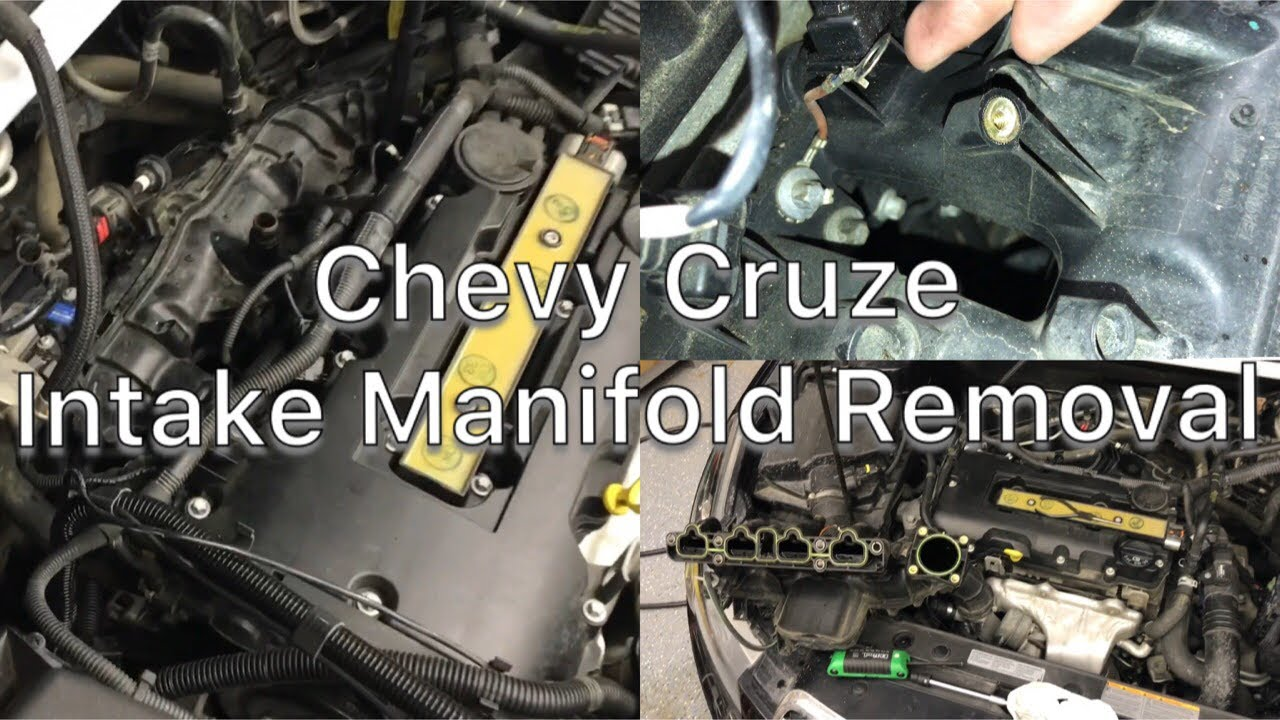 Chevy    Cruze Intake manifold removal 1115  YouTube