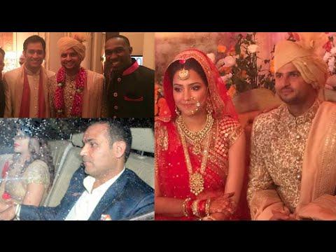 celebs suresh raina wedding virender sehwag ms dhoni