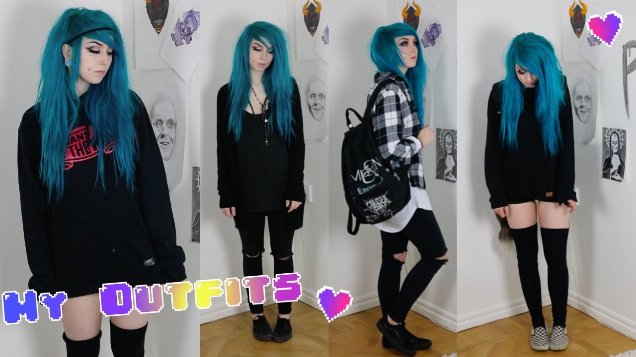 My Emo Alternative Outfits 2017 Youtube