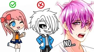 I tried making indie game characters in Gacha life...and failed...(kind of)