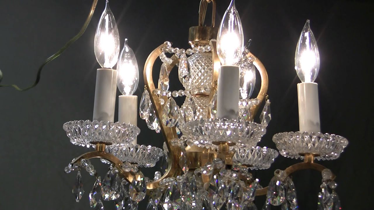 Crystal chandelier handcut austrian antique crystal chandelier crystal chandelier handcut austrian antique crystal chandelier 1930s youtube arubaitofo Choice Image