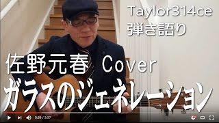 ガラスのジェネレーション 弾き語り 佐野元春 Cover Taylor314ce 作詞作...
