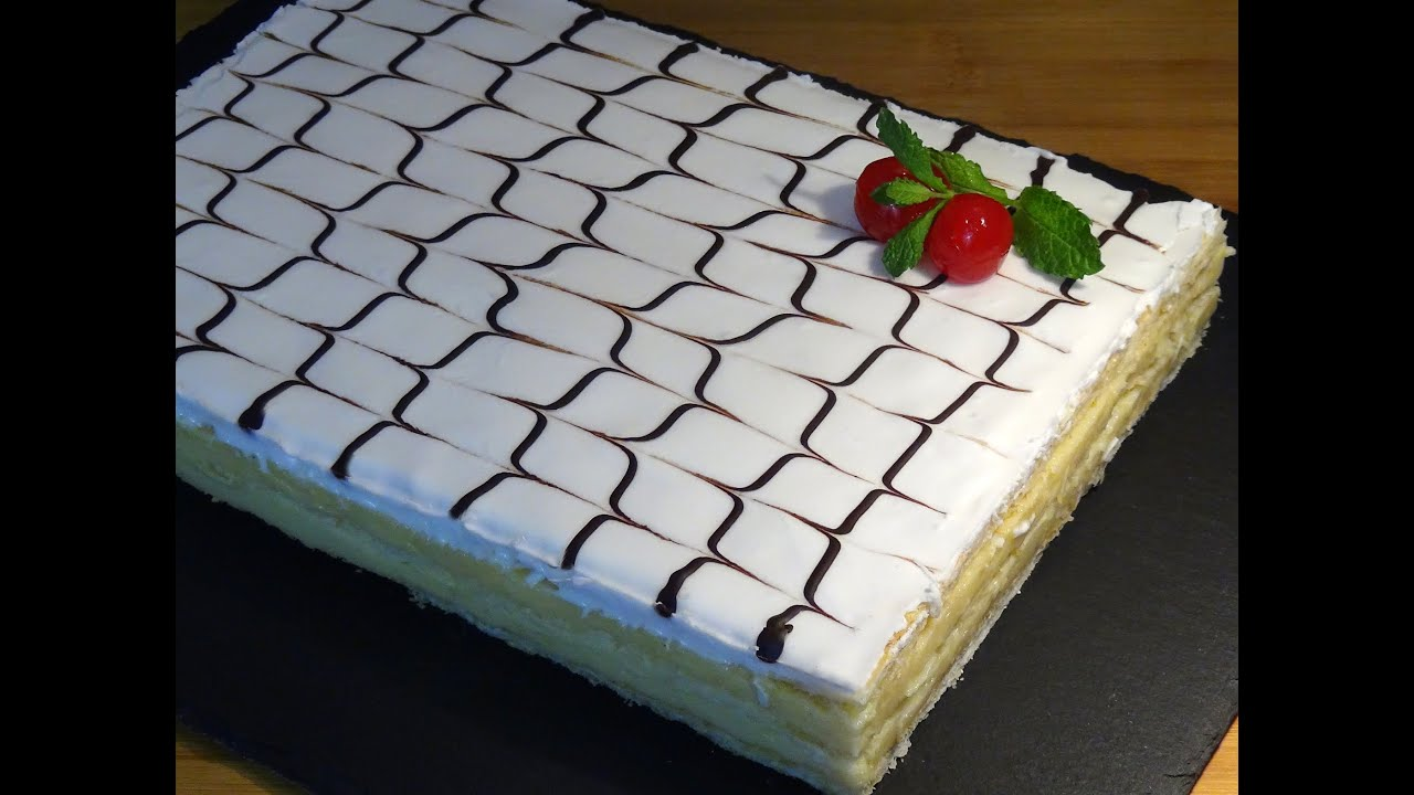 Receta Tarta o pastel milhojas Napoleón - Recetas de cocina, paso a paso, tutorial