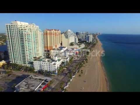 aerial view of fort lauderdale beach and skyline h1voegn
