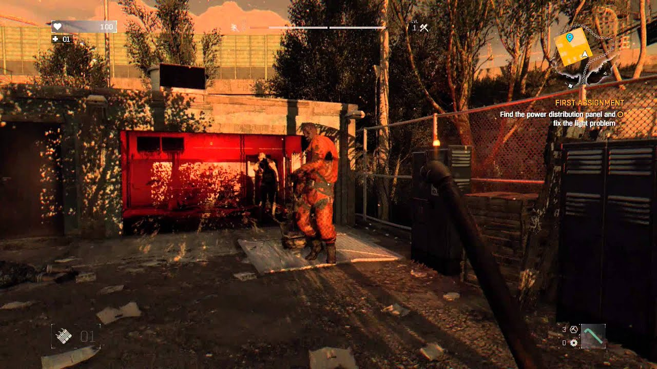 Dying Light First Ignment Find The Distribution Panel Miner Intro Fight Lockpicking