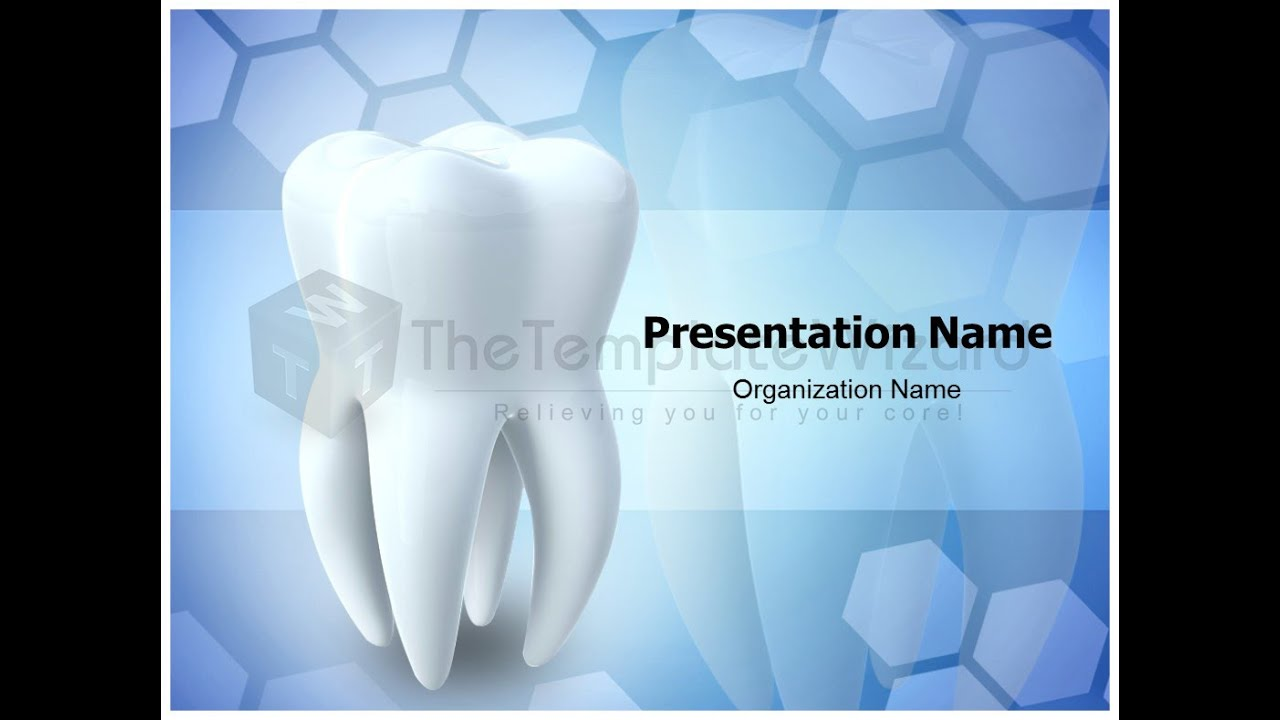 Tooth medical powerpoint presentation template by tooth medical powerpoint presentation template by thetemplatewizard youtube toneelgroepblik Image collections