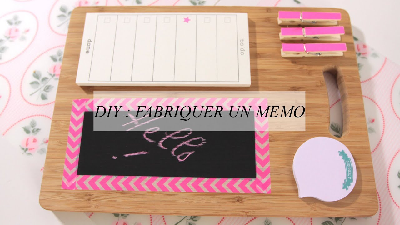 diy d co un m mo personnalis pour s 39 organiser youtube. Black Bedroom Furniture Sets. Home Design Ideas