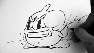 Como Desenhar o Goopy Le Grande Boss [Cuphead Ruse of an Ooze] - (How to Draw Goopy Le) - OLD C. #10