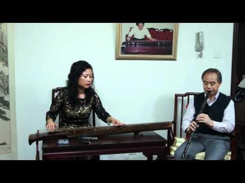 Guqin Xiao duet  Wang Fei Chinese Music 琴箫合奏《关山月》王菲古琴李祥霆箫
