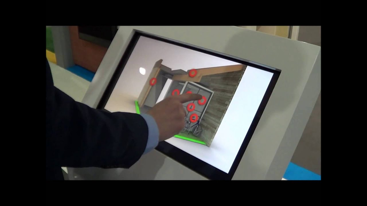 Exhibition Stand Interactive : Interactive touch screen on an exhibition stand with cad