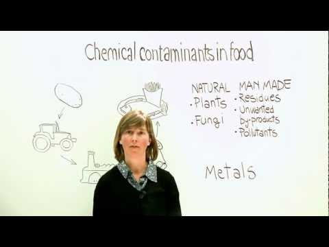 Chemical contaminants in the food chain