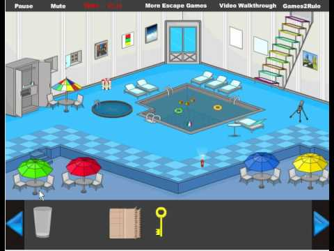 Indoor Swimming Pool Escape Walkthrough Youtube