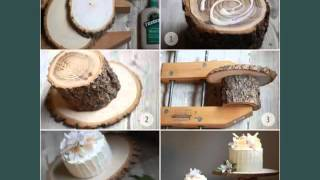 Wood Wedding Decoration Ideas Set Of Pictures