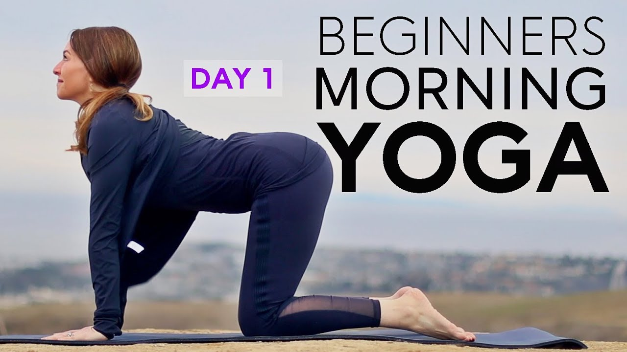 Beginners Yoga Flow 15 Min Morning Stretch Day 1 Fightmaster Yoga Videos Youtube