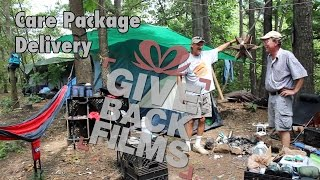 Care Package Delivery to a Homeless Camp | GiveBackFilms