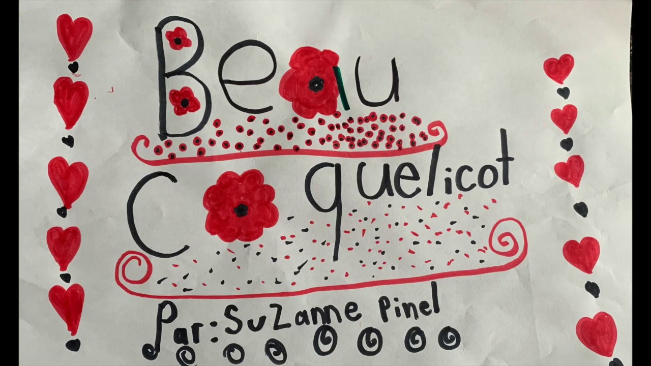 Beau coquelicot-3e année-Mademoiselle Alyssa