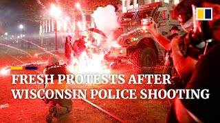 Third night of violent protests in US state of Wisconsin after police shooting of Jacob Blake
