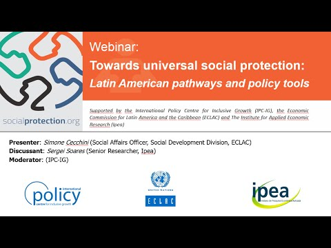 Towards universal social protection  Latin American pathways and policy tools Webinar