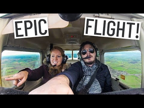 PRIVATE FLIGHT OVER PEAK DISTRICT & SHEFFIELD, ENGLAND!